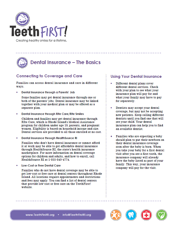 Dental Insurance - The Basics